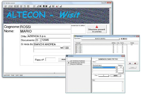 Altecon Wisit reception interface